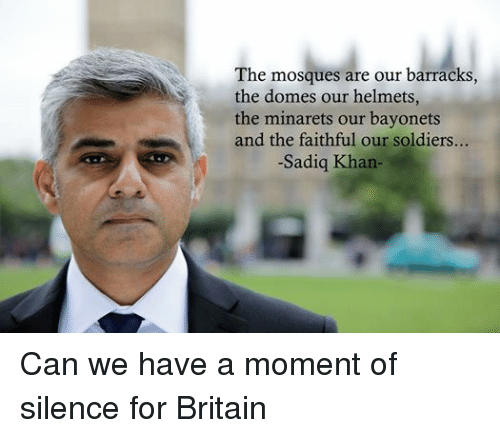 Facebook Can we have a moment of 50f40b sadiq khan responds to muslim fears of white british terrorism