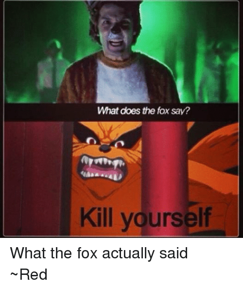What does the fox say meme
