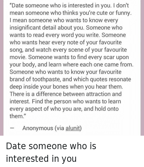 The meaning of dating someone