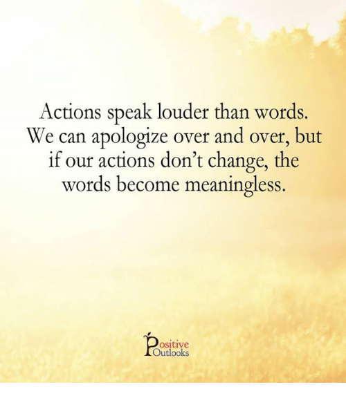Actions vs words dating