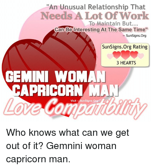 Geminis and capricorns relationships dating
