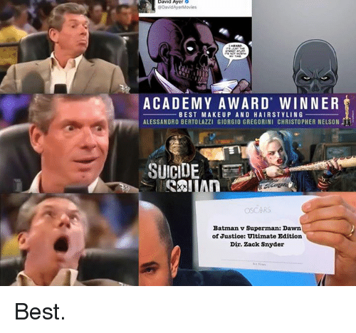 Academy award for best makeup and hairstyling