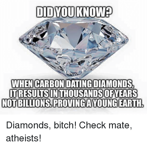 Carbon dating coal and diamonds