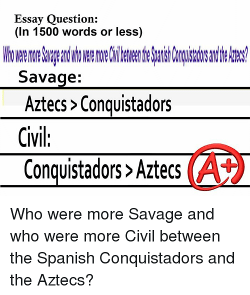 essay questions about the aztecs