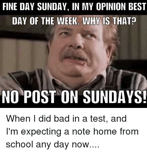 Favorite day of the week essay