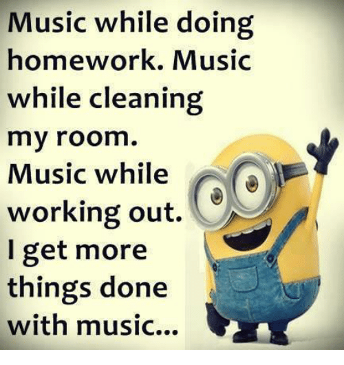Does listening to music help you do your homework