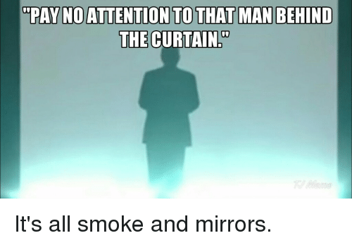Behind the curtain meaning