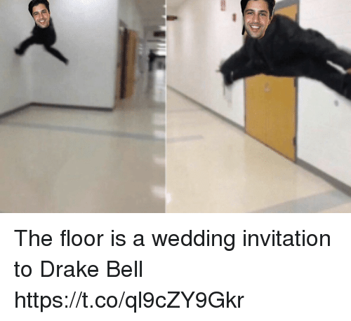 Drake Bell And Funny The Floor Is A Wedding Invitation To Drake Bell