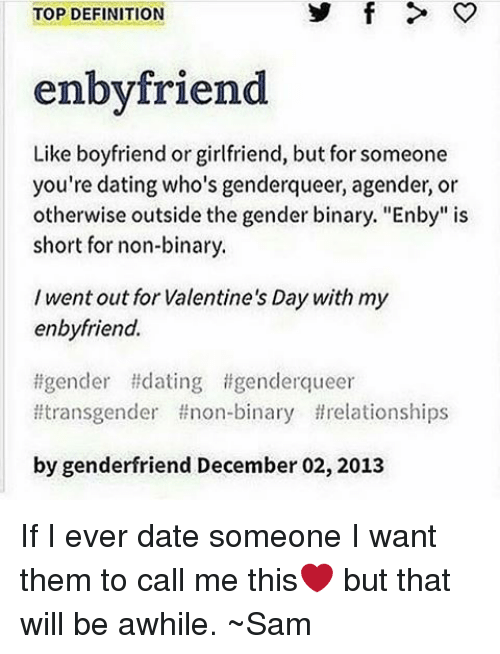 What is the definition of dating someone