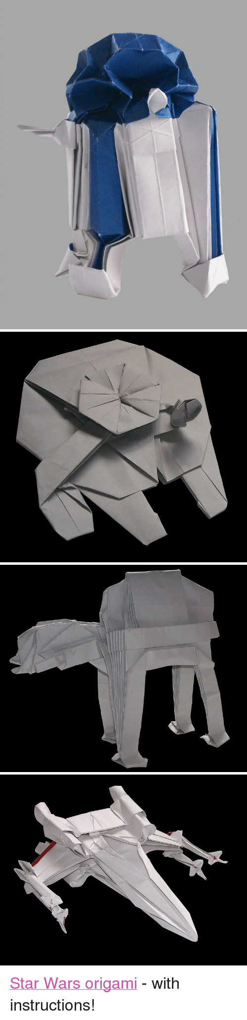 "Star Wars: <p><a href=""http://www.wired.com/design/2012/11/starwarigami/?viewall=true"">Star Wars origami</a> - with instructions!</p>"