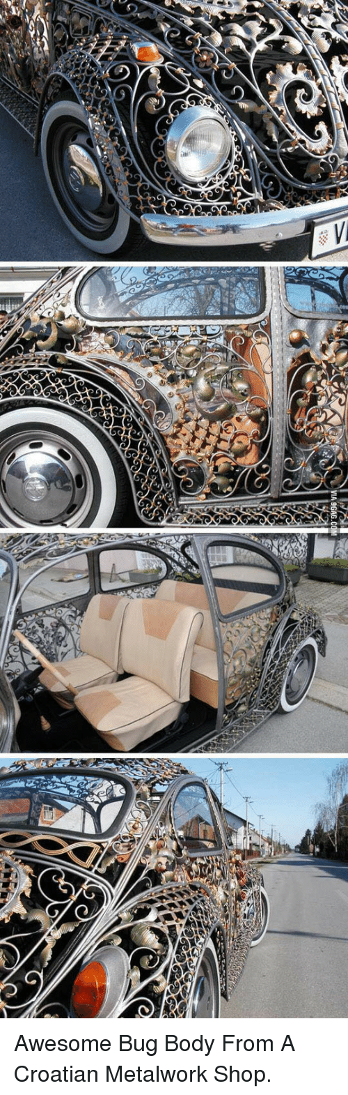 Awesome, Croatian, and Shop: <p>Awesome Bug Body From A Croatian Metalwork Shop.</p>