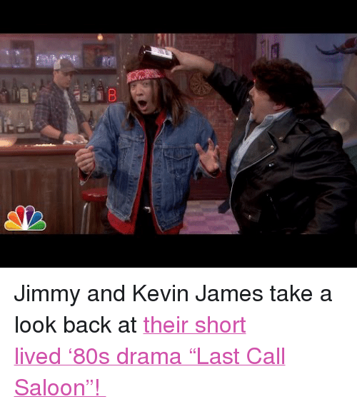 """Kevin James: <p>Jimmy and Kevin James take a look back at <a href=""""https://www.youtube.com/watch?v=PSuq3IpBHmo"""" target=""""_blank"""">their short lived'80s drama""""Last Call Saloon""""!</a></p>"""