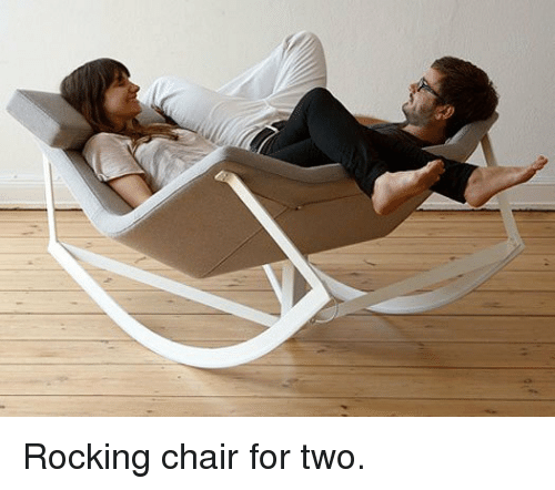 rocking chair: <p>Rocking chair for two.</p>