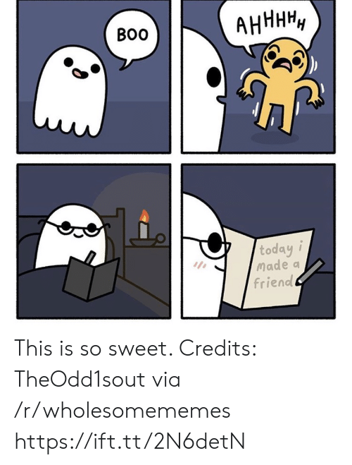 So Sweet: АНННН,  Во  today i  Made a  friend This is so sweet. Credits: TheOdd1sout via /r/wholesomememes https://ift.tt/2N6detN