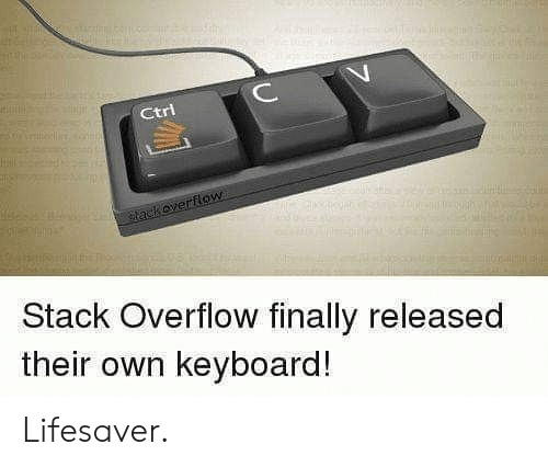 stack: ИИНН  C  Ctri  tackoverflow  Stack Overflow finally released  their own keyboard! Lifesaver.