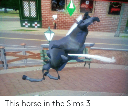 The Sims 3: కు  %3D  పల్  ా This horse in the Sims 3