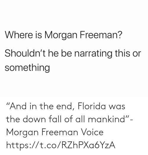"Morgan Freeman: ""And in the end, Florida was the down fall of all mankind""- Morgan Freeman Voice https://t.co/RZhPXa6YzA"
