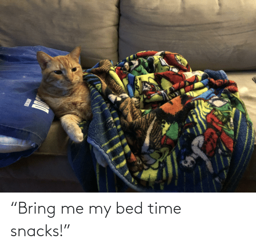 "bed time: ""Bring me my bed time snacks!"""