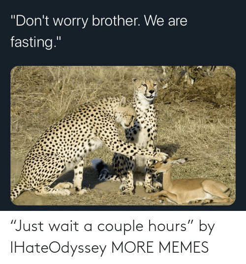 """wait: """"Just wait a couple hours"""" by IHateOdyssey MORE MEMES"""
