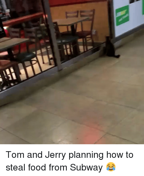 stealing food: ■PV Tom and Jerry planning how to steal food from Subway 😂