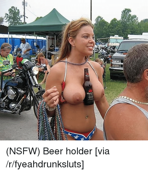 Beer, Nsfw, and Trashy: 】聊 (NSFW) Beer holder [via /r/fyeahdrunksluts]