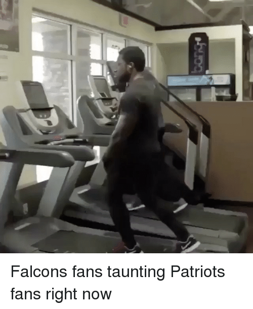 Falcons Fans: をUDq Falcons fans taunting Patriots fans right now