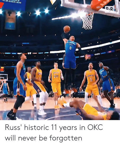 russ: ロR  CIT  0  LAHRS Russ' historic 11 years in OKC will never be forgotten