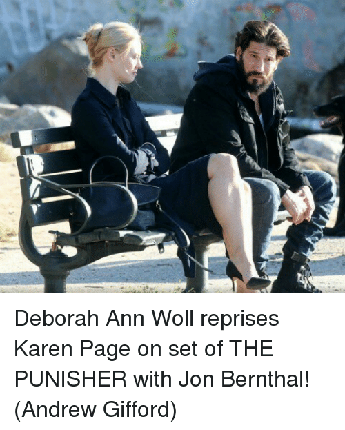 Deborah: ー4 Deborah Ann Woll reprises Karen Page on set of THE PUNISHER with Jon Bernthal!  (Andrew Gifford)