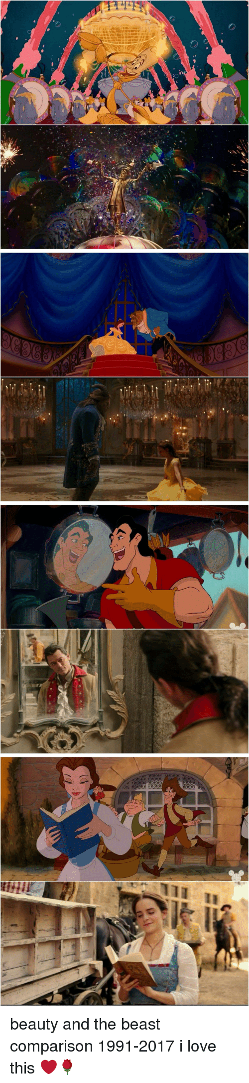 Girl Memes: 叺』   (r   Q  111 I  II beauty and the beast comparison 1991-2017 i love this ❤🌹