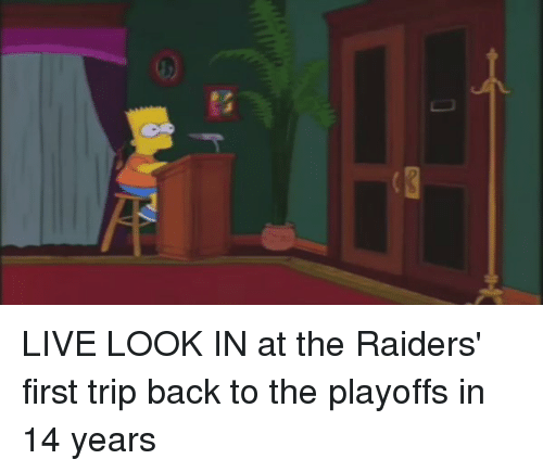 Football, Nfl, and Sports: 吠 LIVE LOOK IN at the Raiders' first trip back to the playoffs in 14 years