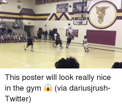 Sports, Via, and Posterity: 峉轉 This poster will look really nice in the gym 😱 (via dariusjrush-Twitter)