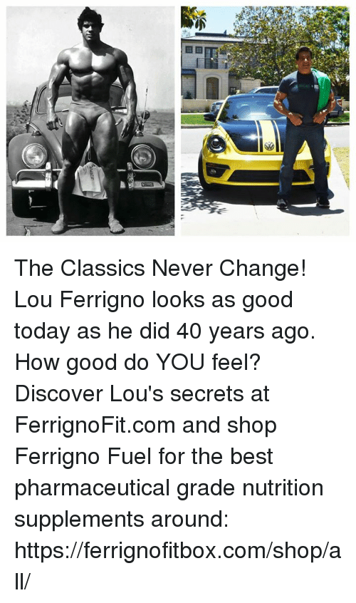 lou ferrigno: 繫 The Classics Never Change!  Lou Ferrigno looks as good today as he did 40 years ago. How good do YOU feel? Discover Lou's secrets at FerrignoFit.com and shop Ferrigno Fuel for the best pharmaceutical grade nutrition supplements around:   https://ferrignofitbox.com/shop/all/