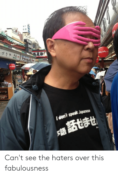 Cant See The Haters: 見仲  I don't speak Japanese Can't see the haters over this fabulousness