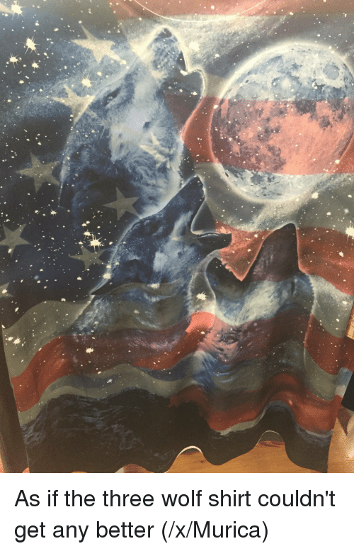 wolf shirt: 迷, As if the three wolf shirt couldn't get any better (/x/Murica)
