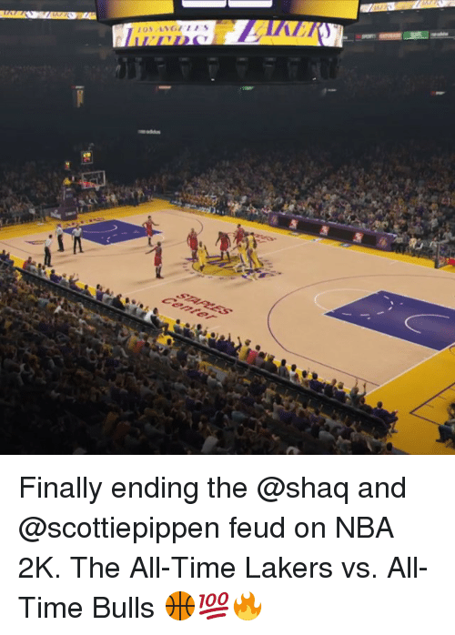 Finals, Nba, and Shaq: 飄飄压,oND Finally ending the @shaq and @scottiepippen feud on NBA 2K. The All-Time Lakers vs. All-Time Bulls 🏀💯🔥