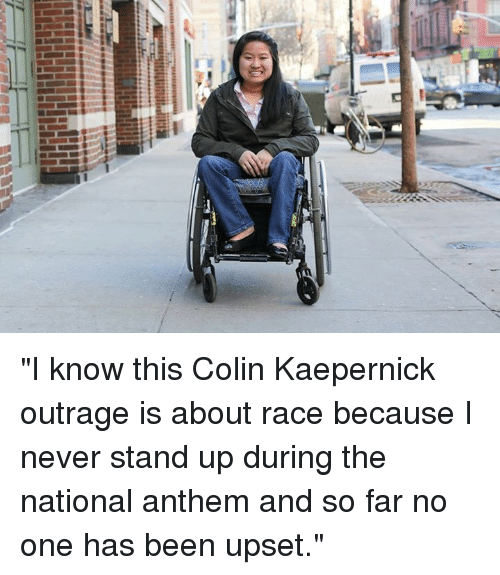 "Colin Kaepernick, Dank, and National Anthem: 겔  占 ""I know this Colin Kaepernick outrage is about race because I never stand up during the national anthem and so far no one has been upset."""