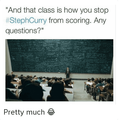 """NBA: @breakanklesdaily  """"And that class is how you stop #StephCurry from scoring. Any questions?"""" Pretty much 😂"""