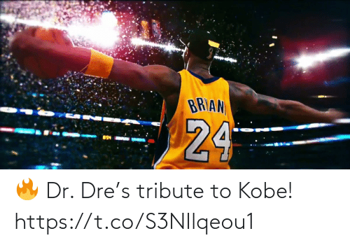 Dr. Dre: 🔥 Dr. Dre's tribute to Kobe!  https://t.co/S3NIlqeou1