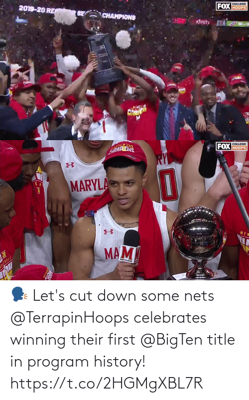 Nets: 🗣 Let's cut down some nets  @TerrapinHoops celebrates winning their first @BigTen title in program history! https://t.co/2HGMgXBL7R