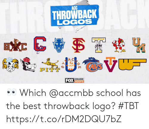 TBT: 👀 Which @accmbb school has the best throwback logo? #TBT https://t.co/rDM2DQU7bZ