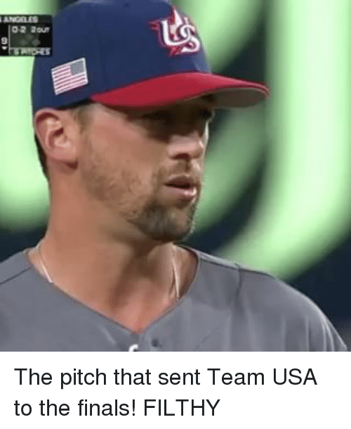 Mlb, Usa, and Team: 0-2 2our The pitch that sent Team USA to the finals! FILTHY