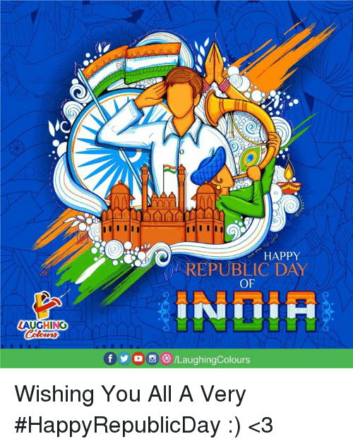 Happy, Indianpeoplefacebook, and Republic: 0  HAPPY  REPUBLIC DAY  OF  LAUGHING  fyo0 /LaughingColours Wishing You All A Very #HappyRepublicDay :) <3