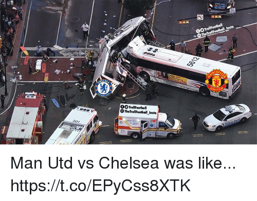 Chelsea, Memes, and 🤖: 0  HES  UNITE  ELSE  OTrollFootball  TheTrollFootball_Insta  301 Man Utd vs Chelsea was like... https://t.co/EPyCss8XTK