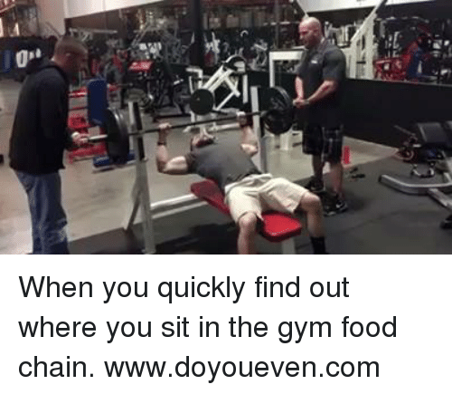"SIZZLE: 0""  it When you quickly find out where you sit in the gym food chain.  www.doyoueven.com"