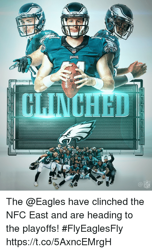 nfc east: 0  NFL The @Eagles have clinched the NFC East and are heading to the playoffs!  #FlyEaglesFly https://t.co/5AxncEMrgH