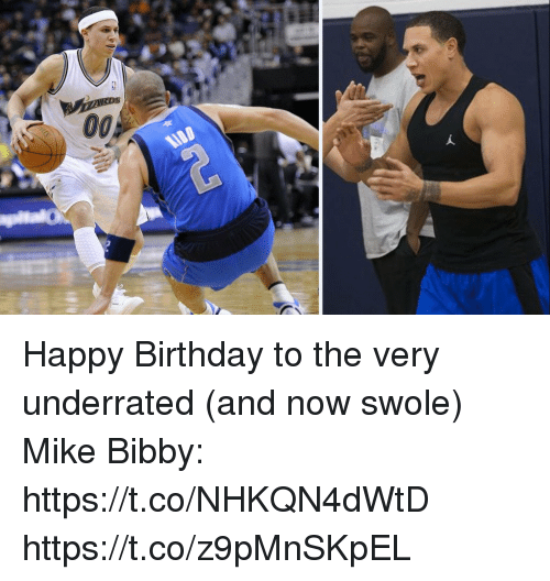 Birthday, Memes, and Swole: 00  ADD Happy Birthday to the very underrated (and now swole) Mike Bibby: https://t.co/NHKQN4dWtD https://t.co/z9pMnSKpEL
