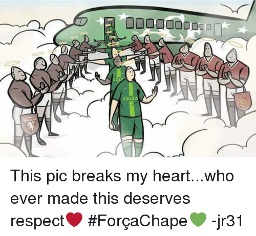 memes: 00000000000  (シン  CA  CAIX This pic breaks my heart...who ever made this deserves respect❤️  #ForçaChape💚  -jr31