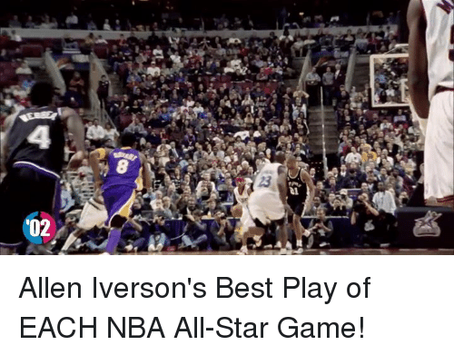 All Star, Allen Iverson, and Memes: '02 Allen Iverson's Best Play of EACH NBA All-Star Game!