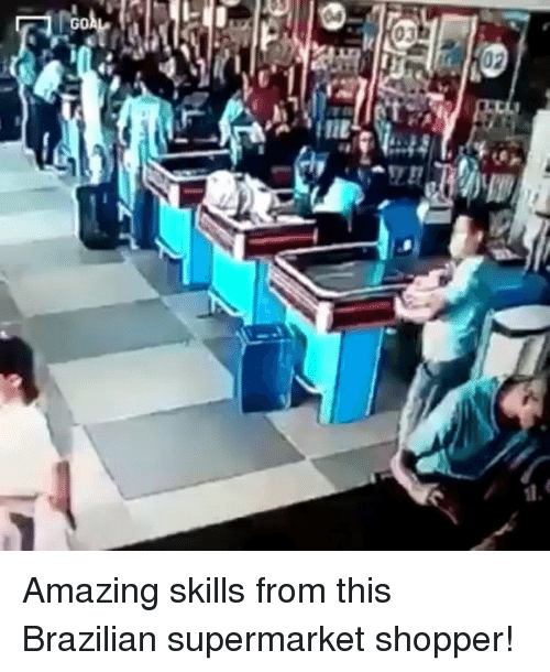 Memes, Amazing, and Brazilian: 03 Amazing skills from this Brazilian supermarket shopper!
