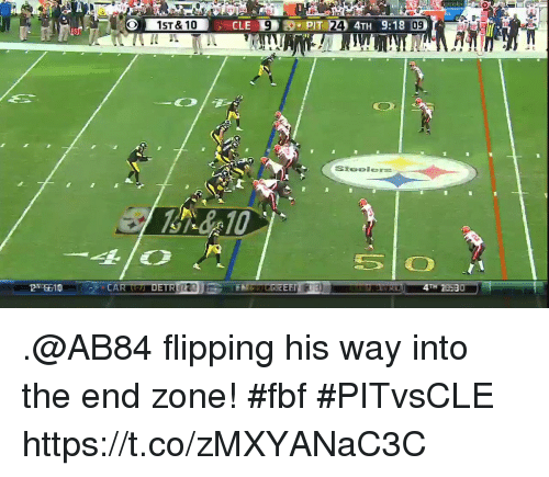 Memes, 🤖, and Zone: 09  30 .@AB84 flipping his way into the end zone! #fbf #PITvsCLE https://t.co/zMXYANaC3C